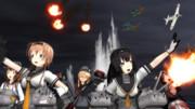 [MMD艦これ]秋月型の防空戦