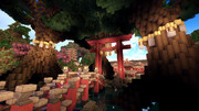 【Minecraft】御神木と大鳥居【英語を勉強できる街 つくりませんか?】