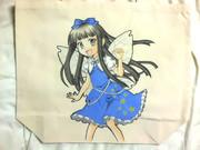 手描きイラストバッグ スターサファイア