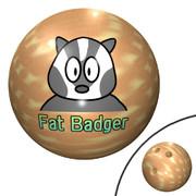 太ったアナグマのボウリングボール