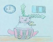 カップケーキとハネッコ