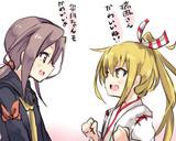 駆逐艦瑞鳳と軽空母皐月