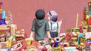 ココノツに駄菓子について熱弁するほたるちゃん