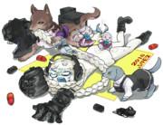 集積地棲姫VS礼号組(擬獣化)