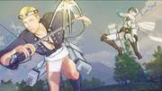ゲーム 進撃の巨人、祭り団長&はたき兵長vs猿の巨人戦