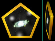 星雲の五角形コースター