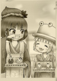 神奈子様と諏訪子様のひな祭り