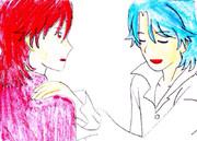 レッド、ブルー