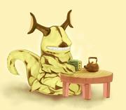 エレキングとお茶
