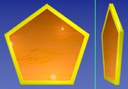 夕焼けの五角形コースター