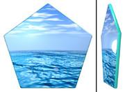 海の五角形コースター
