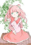 髪の毛ピンク!