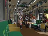 ある日の電車内、ある駅にて