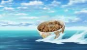 [雑コラ]海上から勢いよくドロップする牛丼[飯テロ]