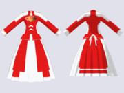 【MMDアクセサリ配布】紅の白装束