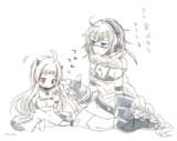 ほっぽのお守りをする集積地棲姫