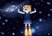 宇宙へ飛び立つRMAロボ