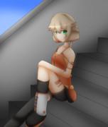 階段とONEちゃん(2/16ワンドロ)
