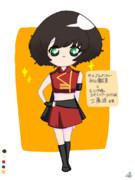 秋山優花里ちゃんにモー娘。衣装を着せてみた