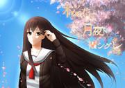 桜花二月夜ト袖シグレ