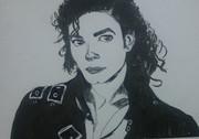 マイケルジャクソンを描いてみた^^
