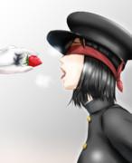 あきつ丸さん、ききイチゴチャレンジ。