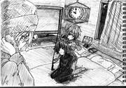 2B鉛筆で結月ゆかり、描いてみた【その29】+琴葉茜+弦巻マキ