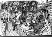 2B鉛筆で結月ゆかり、描いてみた【その30】+琴葉茜+弦巻マキ