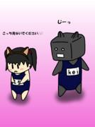 猫耳スク水メイドさん&keiさん