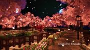 Minecraft 「桜と並木道」