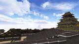 慶長-大坂城―天守と奥御殿を望む―