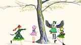 桜の下の少女達
