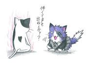 エラー猫vs天龍ネコ
