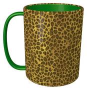 ヒョウ柄のマグカップ