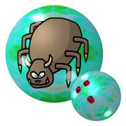 牛鬼のボウリングボール