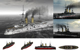 MMD用モブ前弩級戦艦1904セット