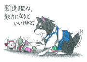 加賀犬と瑞鶴ネコと翔鶴ネコ