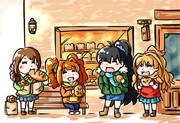 街のパン屋さんにきたアイドル達