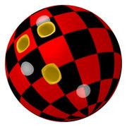 チェック模様のボウリングボール