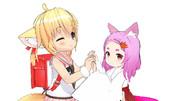 紺子&狐娘名づけて狐ツインズ