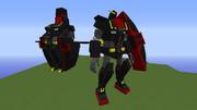 【minecraft】サイコガンダムに変形機能を追加してみた【jointblock】