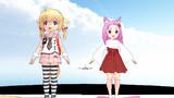 紺子&狐娘何かにびっくりしています!