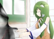 ピアノを弾くPSR姉貴
