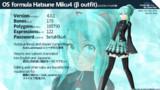 【MMD】OS式初音ミク4 (β衣裳)【モデル配布】