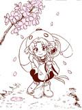 桜と魔法少女。