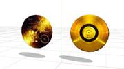 """【MMD】 """"ボイジャー探査機のレコード盤""""【モデル配布】"""