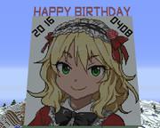 【Minecraft】櫻井桃華ちゃんお誕生日おめでとう【ドット絵】