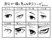 自分が描く色んな目シリーズ