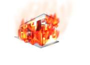 燃えるアパート