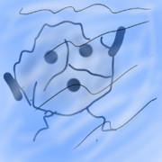 溺れた....灰?